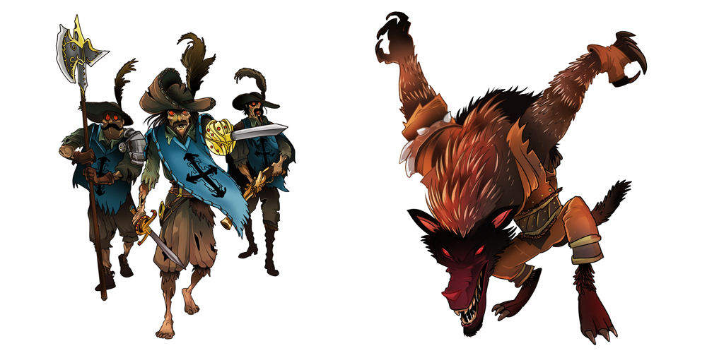 3 Musketters and Big Bad Wolf
